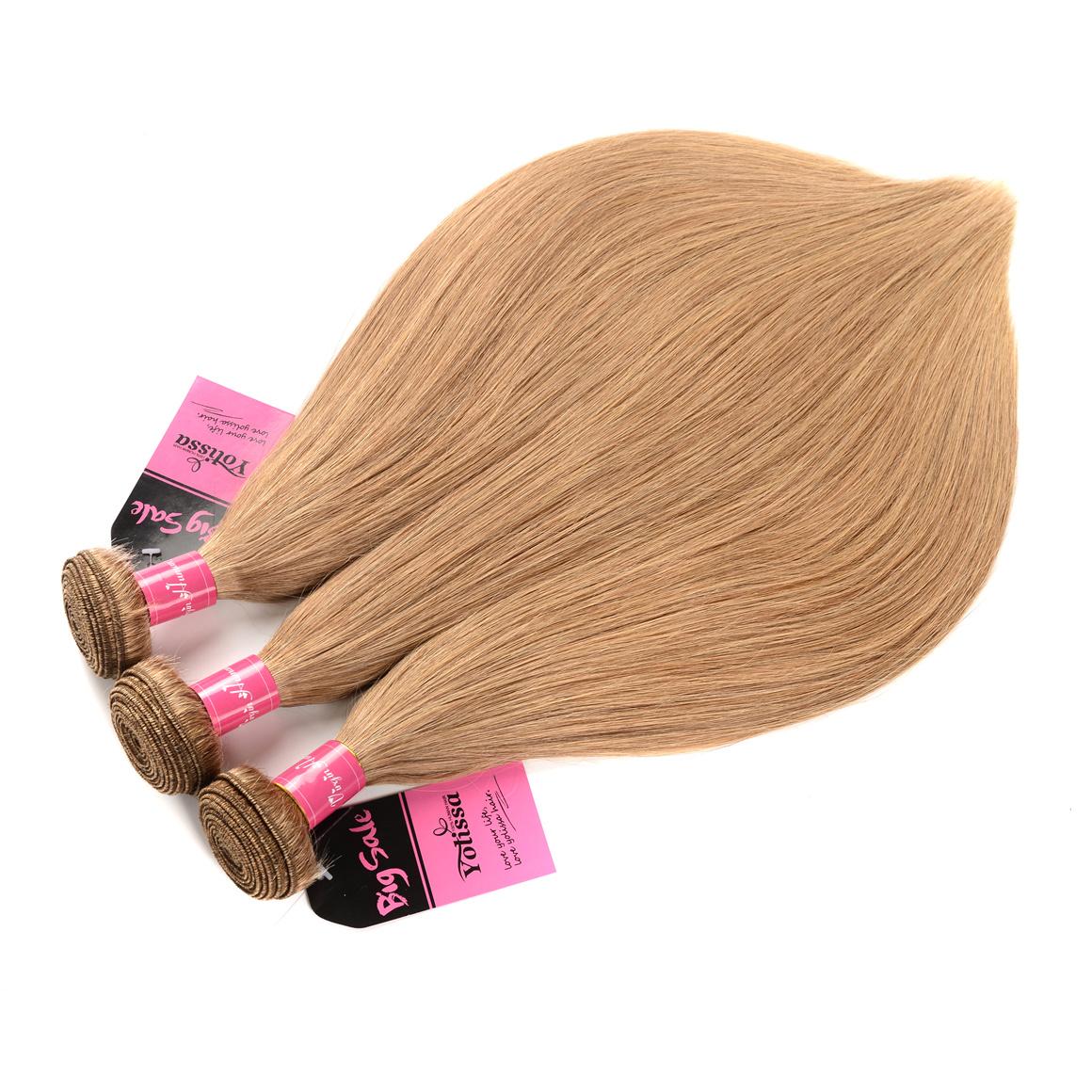 Honey Blonde 3 Bundles With Closure