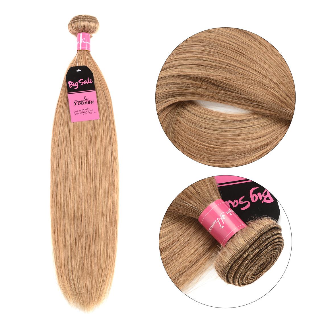 Honey Blond Straight Hair 4 Bundles