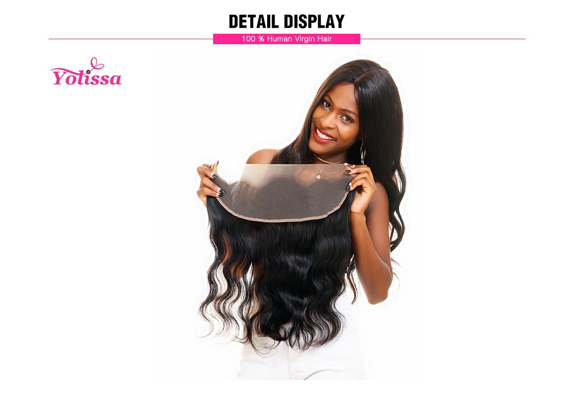 Body Wave Human Virgin Brazilian Hair Lace Frontal