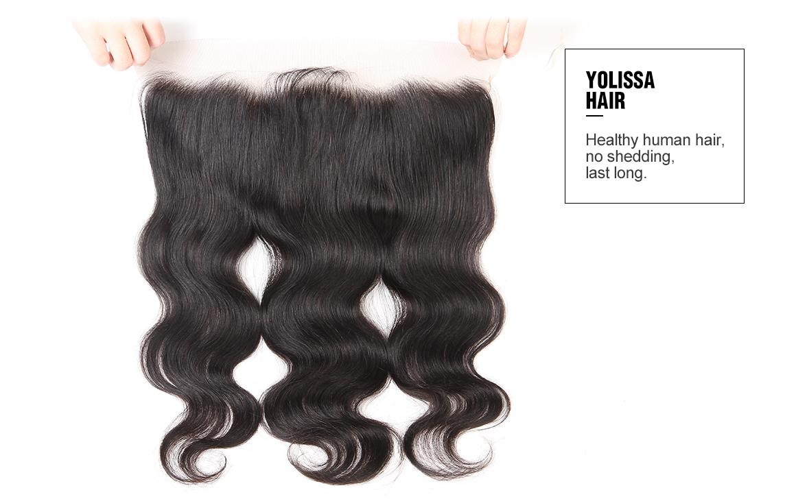 brazilian hair body wave bundles with frontal 13*4