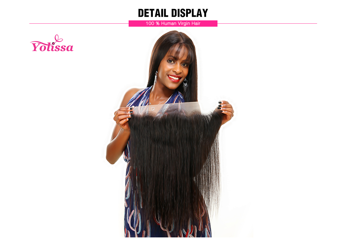 Straight Virgin Hair 13*4 Lace Frontal Brazilian Hair