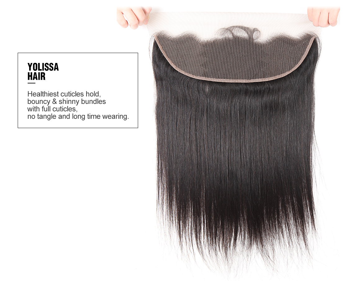 Virgin Brazilian Lace Frontal Closure with 4 Bundles Hair