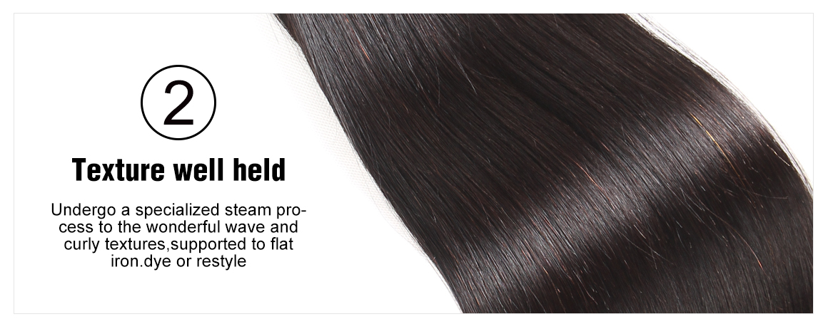 silky straight hair bundles and lace frontal
