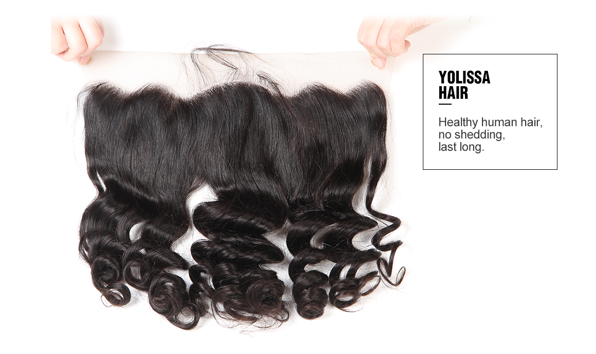 brazilian virgin hair loose wave bundles with lace frontal