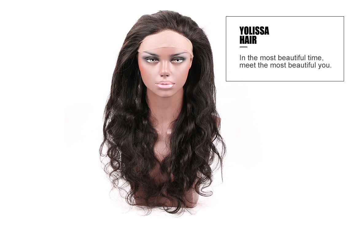 brazilian hair body wave bundles with 360 frontal