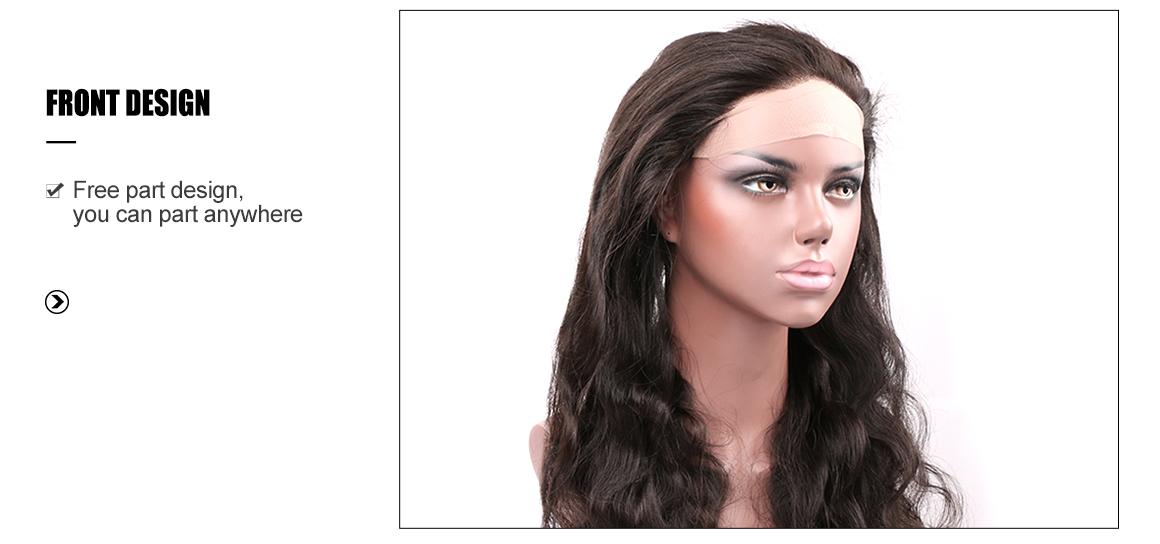 brazilian virgin human hair body wave bundles with 360 lace frontal