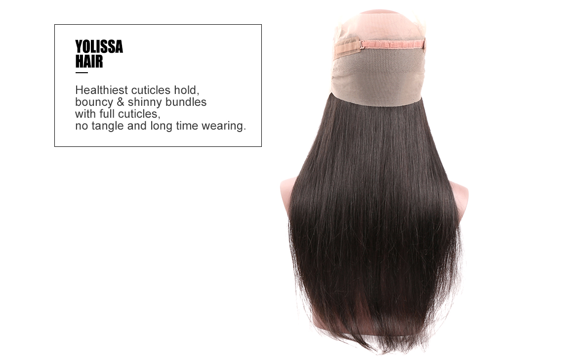 straight human virgin hair lace frontal with hair bundles