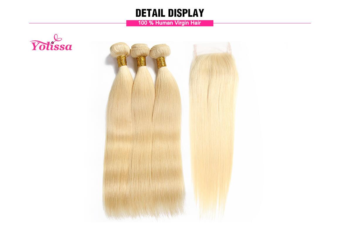 613 Blonde Hair Straight 3 Bundles