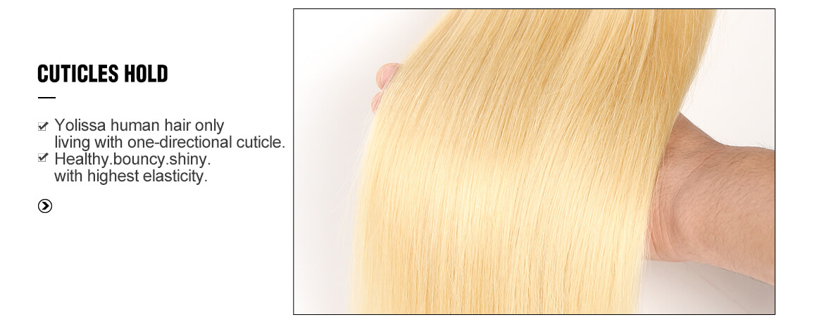 Straight Blonde Hair 4 Bundles