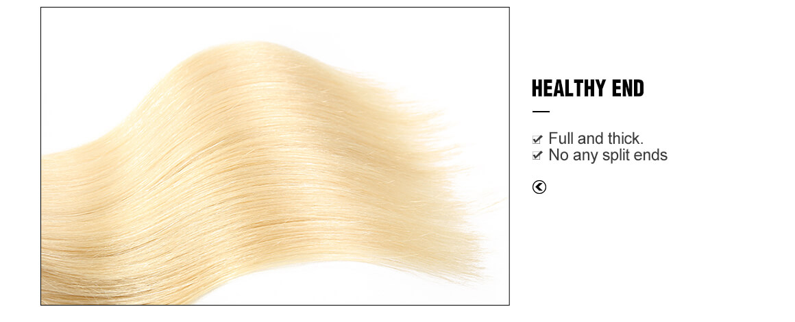 Blonde Hair 4 Bundles With Hand-tied Lace Closure 4*4
