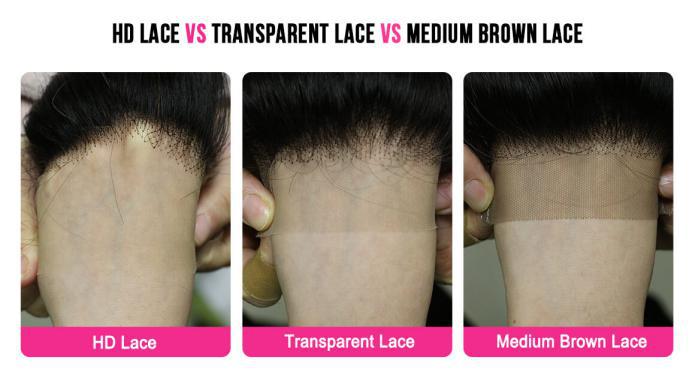 HD LACE VS TRANSPARENT LACE VS MEDIUM BROWN LACE
