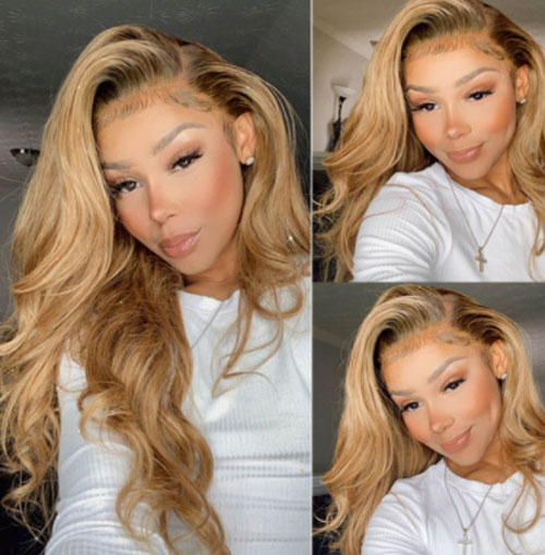 #27 color hair lace wig