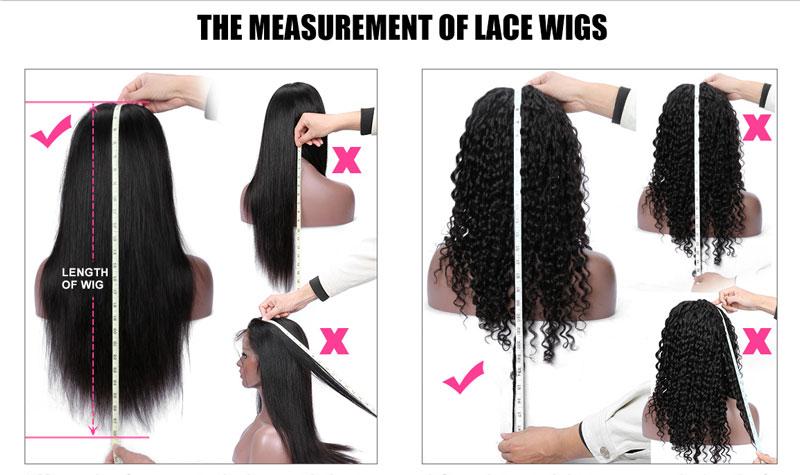 measure a hair wig