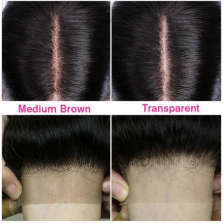 medium brown and transparent lace