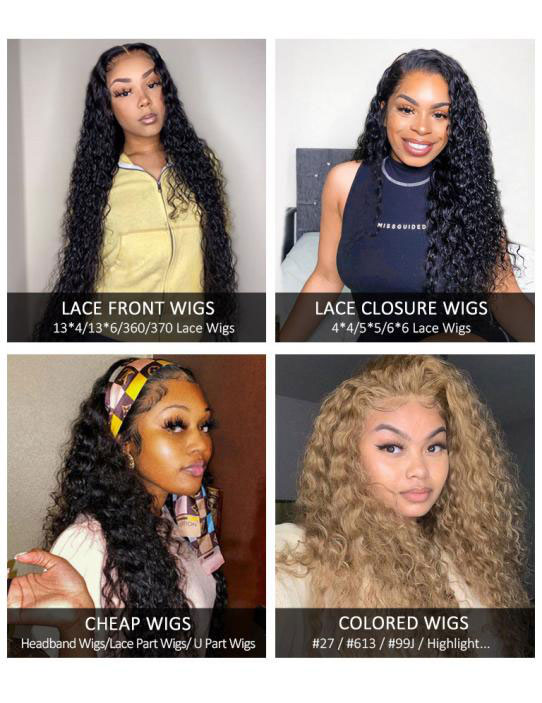 water wave lace wigs & headband water wave wigs & colored water wave wigs