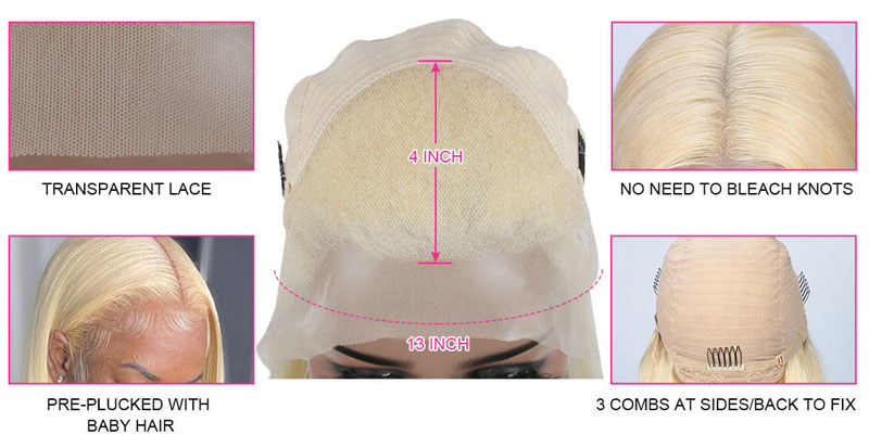 Body Wave/Straight 613 Blonde Lace Front Wigs