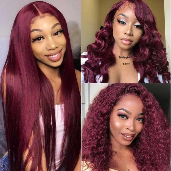 99J Burgundy hair