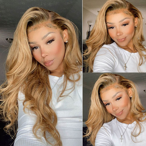 #27 body wave lace front wigs