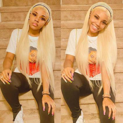 613 blonde straight lace front wig