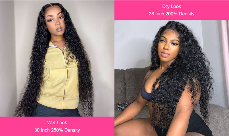 water wave 13x6 lace front wigs