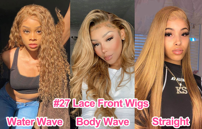 1)27 Straight/Body Wave/Natural Wave Lace Front Wigs