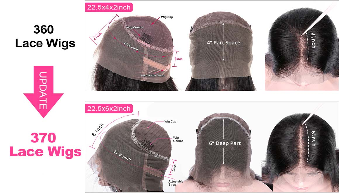 360 lace front wigs and 370 lace front wigs