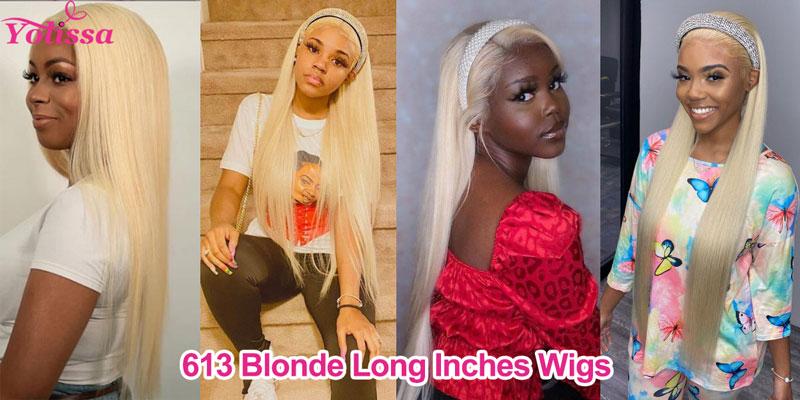 613 blonde long hair wigs