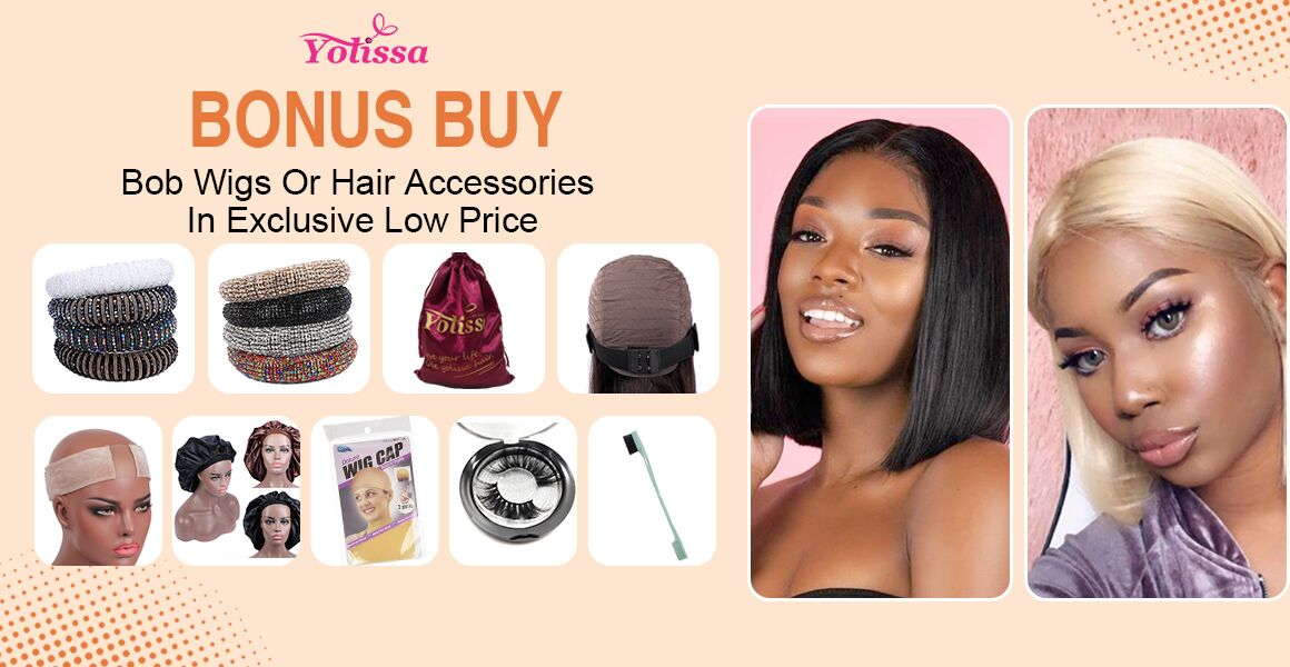 Bonus Buy--Bob Wigs Or Hair Accessories In Exclusive Low Price