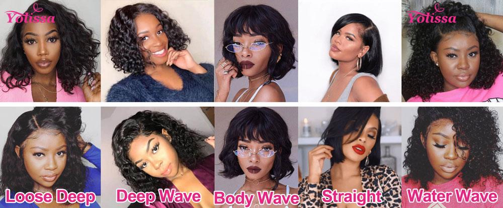 The textures of Bob Cut Wigs