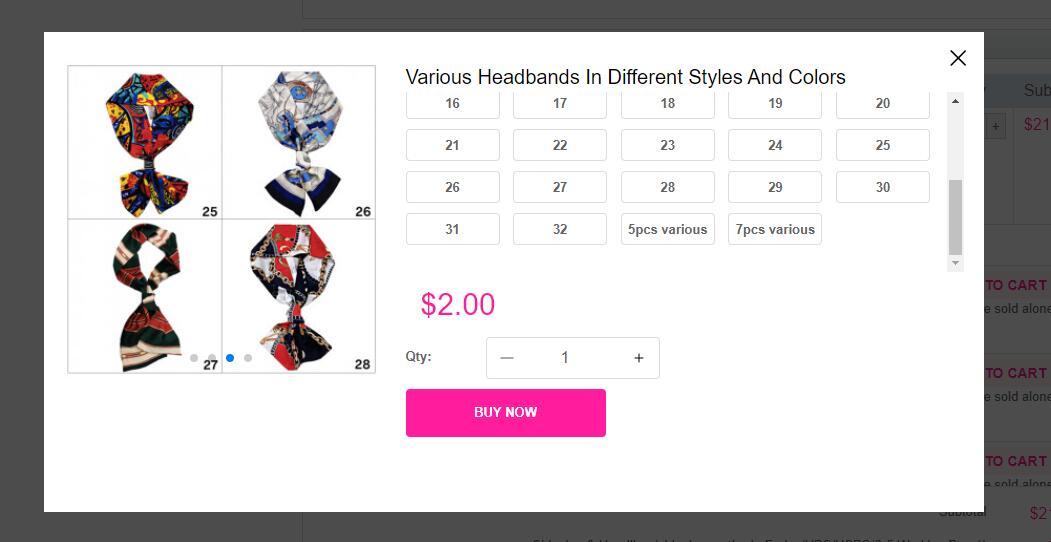 Headbands in Bonus Buy