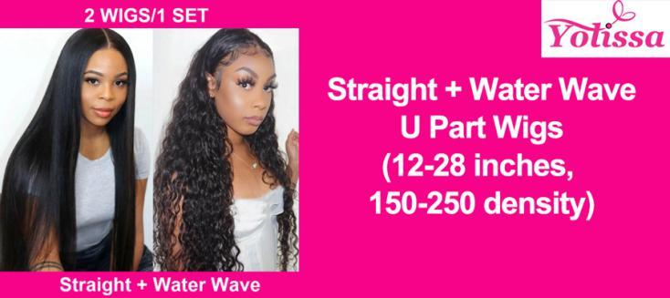 Straight + Water Wave U Part Wigs