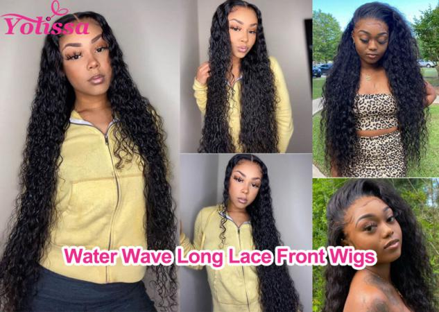Water Wave Long Lace Front Wigs