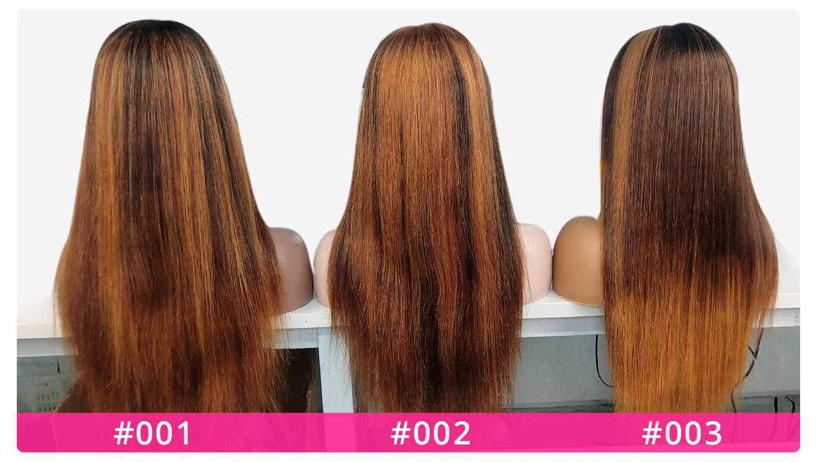 highligh #27 Lace Front Wigs Back