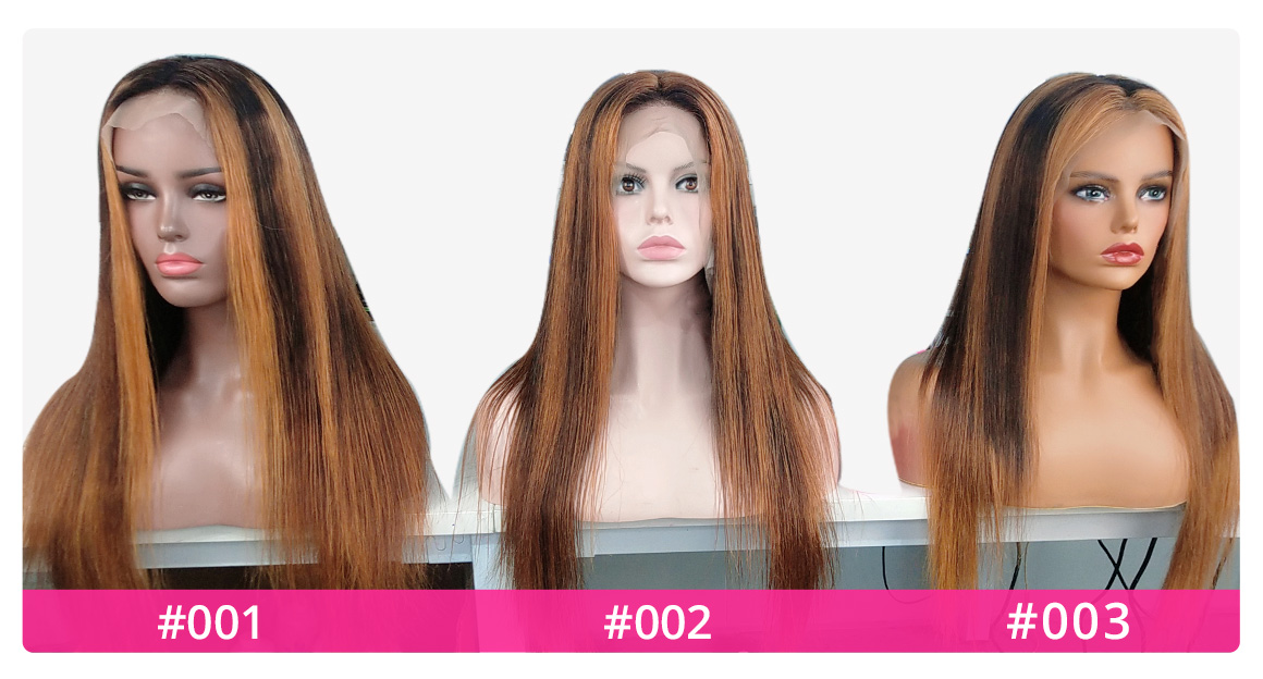 highligh #27 Lace Front Wigs Front