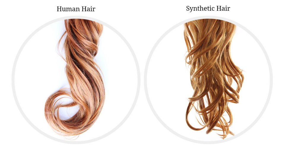 human hair wig or synthetic
