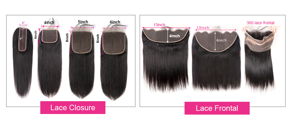 lace closures and lace frontals