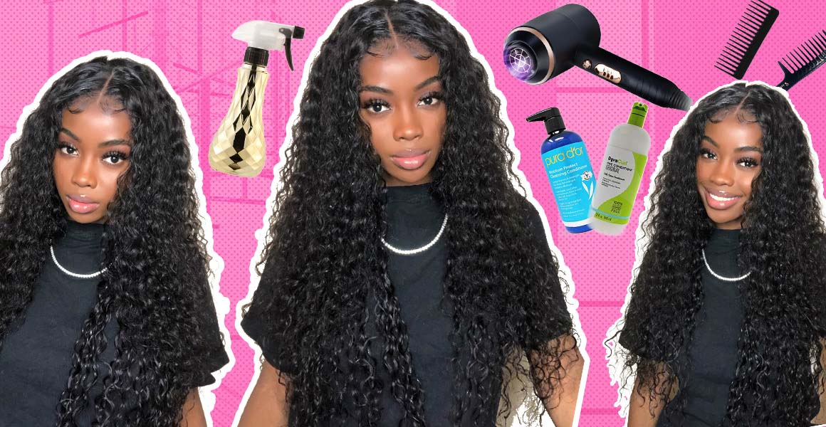 long water wave lace wigs