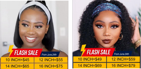 Summer Vibes: No Glue No Lace Cheap Headband Wigs