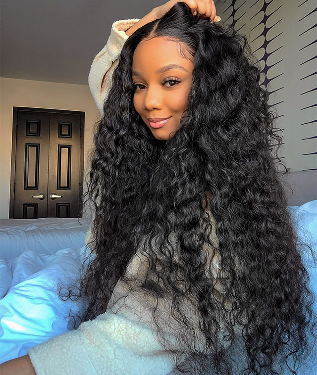 water wave lace front wigs